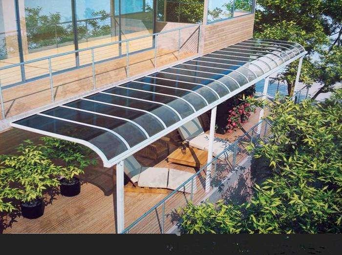 昆明铝合金雨棚安装图片展示