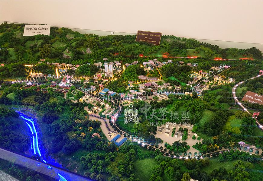 工业沙盘模型-义龙新区红星产业园