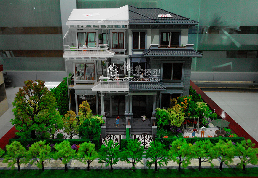 户型沙盘模型-水墨中国