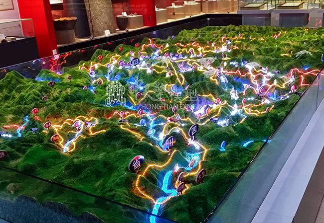 展馆沙盘模型-丽江东巴文化博物馆