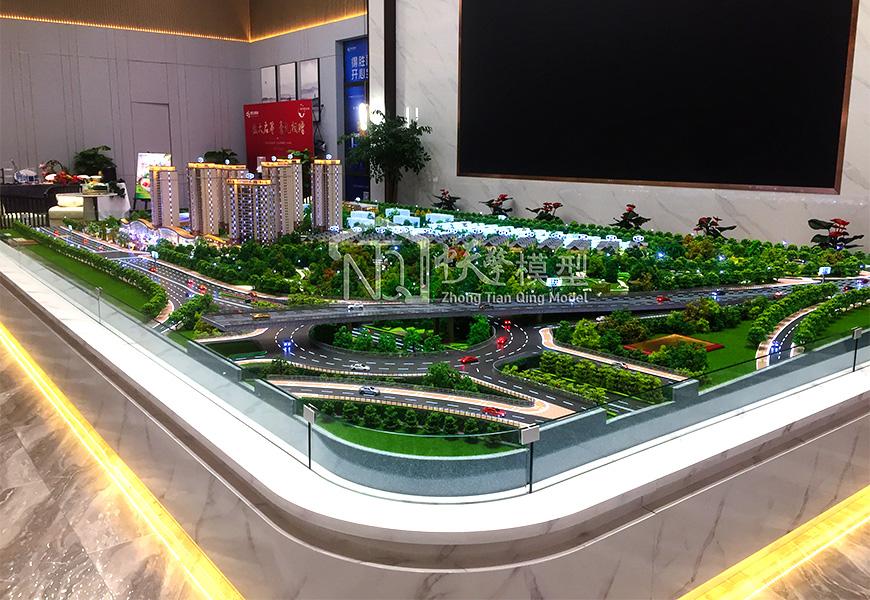 地产沙盘模型-得胜温泉度假公园