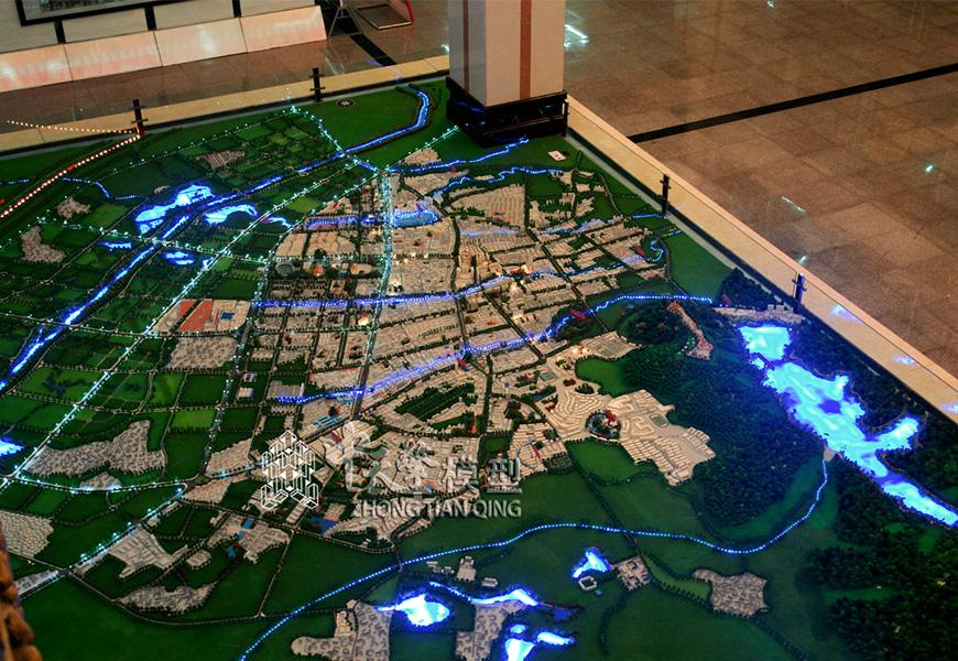 规划沙盘模型-芒市总体规划