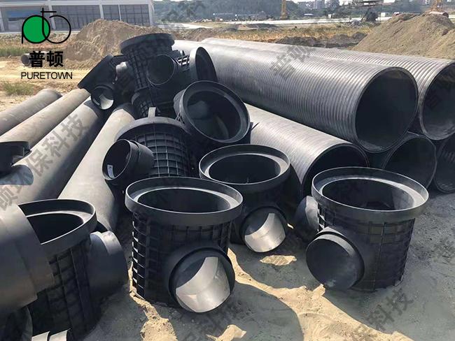 普顿市政塑料检查井800系列流槽90度井1