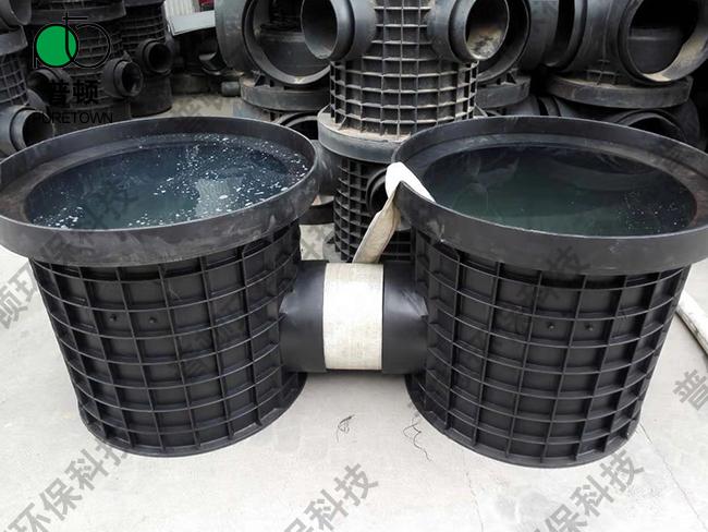 普顿市政塑料检查井800系列流槽起始井2