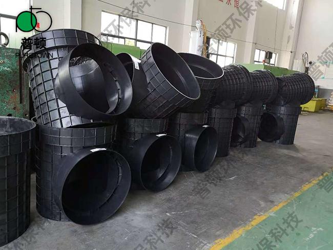 普顿市政塑料检查井800系列流槽起始井8