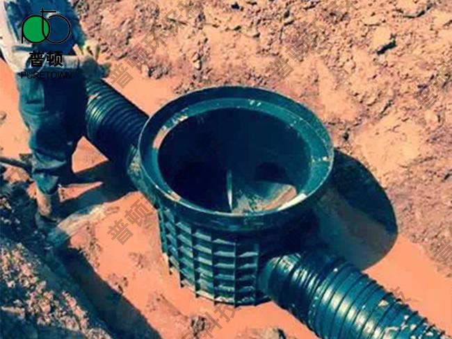 普顿市政塑料检查井800系列流槽直通井2