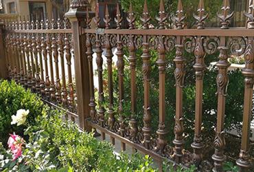 现代铝艺围栏
