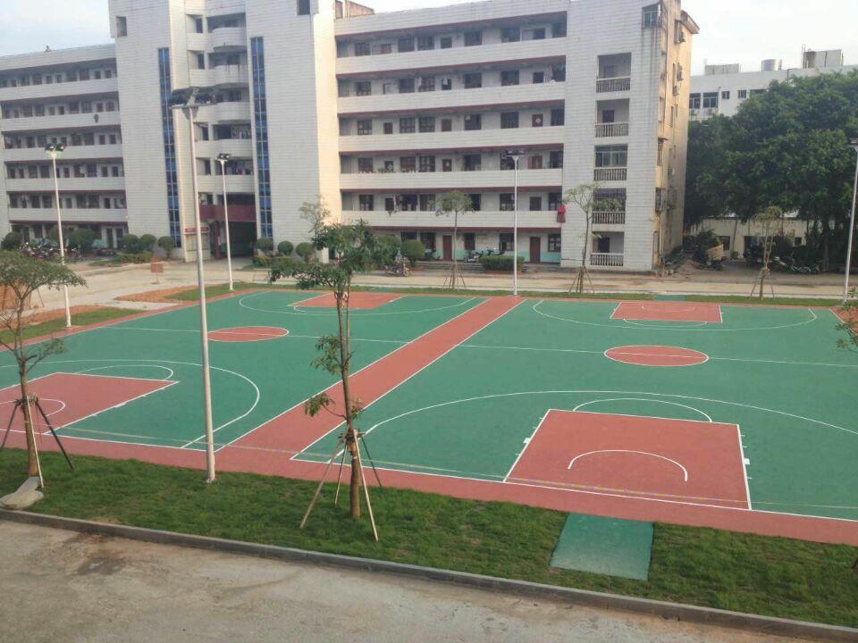 福建莆田第十二中学硅PU篮球场