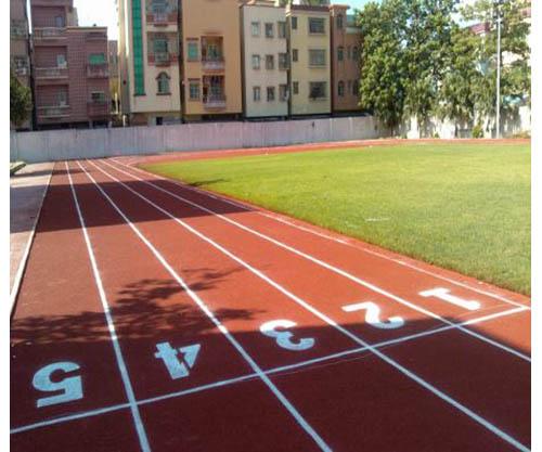 學校透氣型塑膠跑道施工
