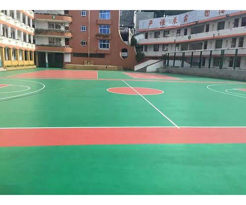 硅PU籃球場