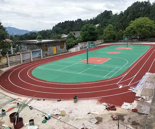 四川硅PU篮球场报价