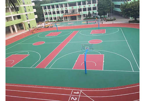 西藏硅PU籃球場