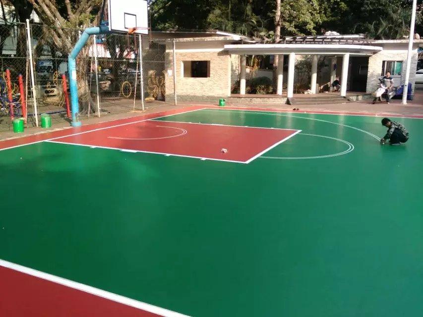 硅PU篮球场施工前后需要注意的事项有哪几条?