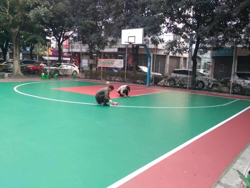 硅PU篮球场在冬天施工时应该注意哪些