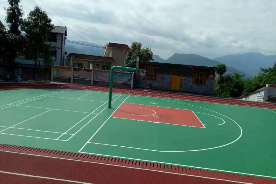 硅PU球场_硅PU篮球场_硅PU篮球场施工