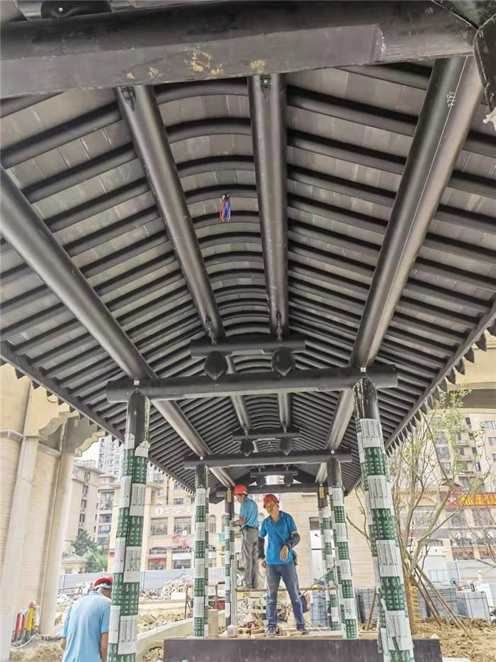铝代木连廊