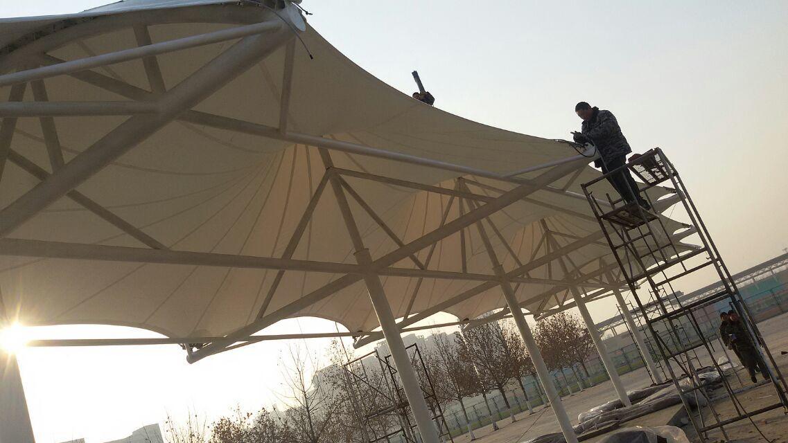膜结构停车棚景观蓬