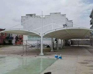 膜结构车棚修建特色剖析和结构完wan美结合