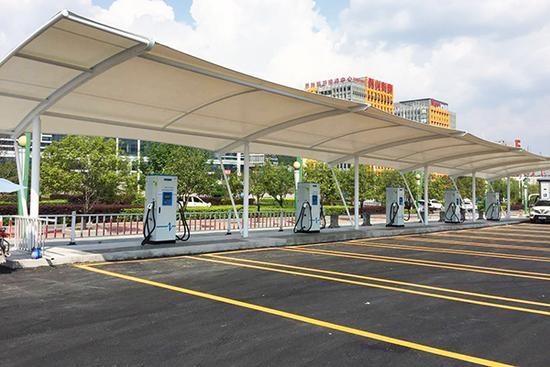 公交车充电桩停车棚膜材涂层手法支持有哪些?