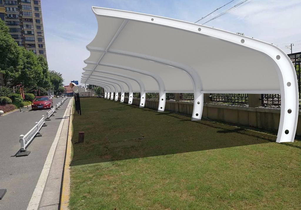 对于膜结构停车棚改造工程方案的注意事项简单介绍