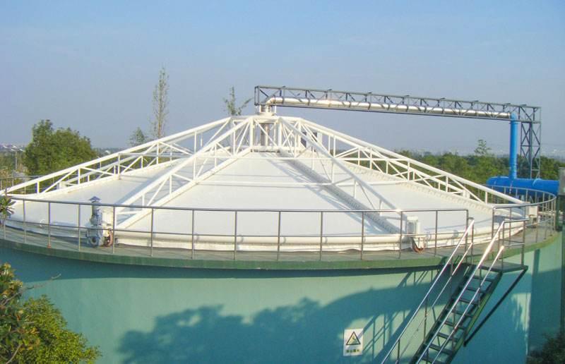 膜结构污水池加盖的排水设计是…
