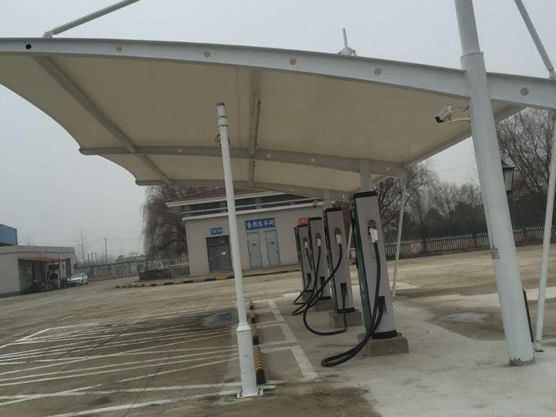 膜結構充電樁雨棚