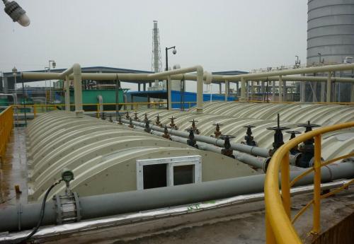 膜結構覆蓋污水池