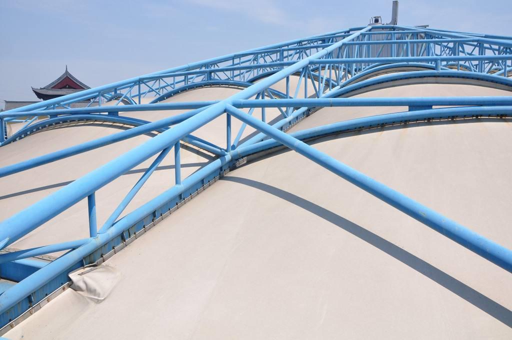 膜結構加蓋污水池