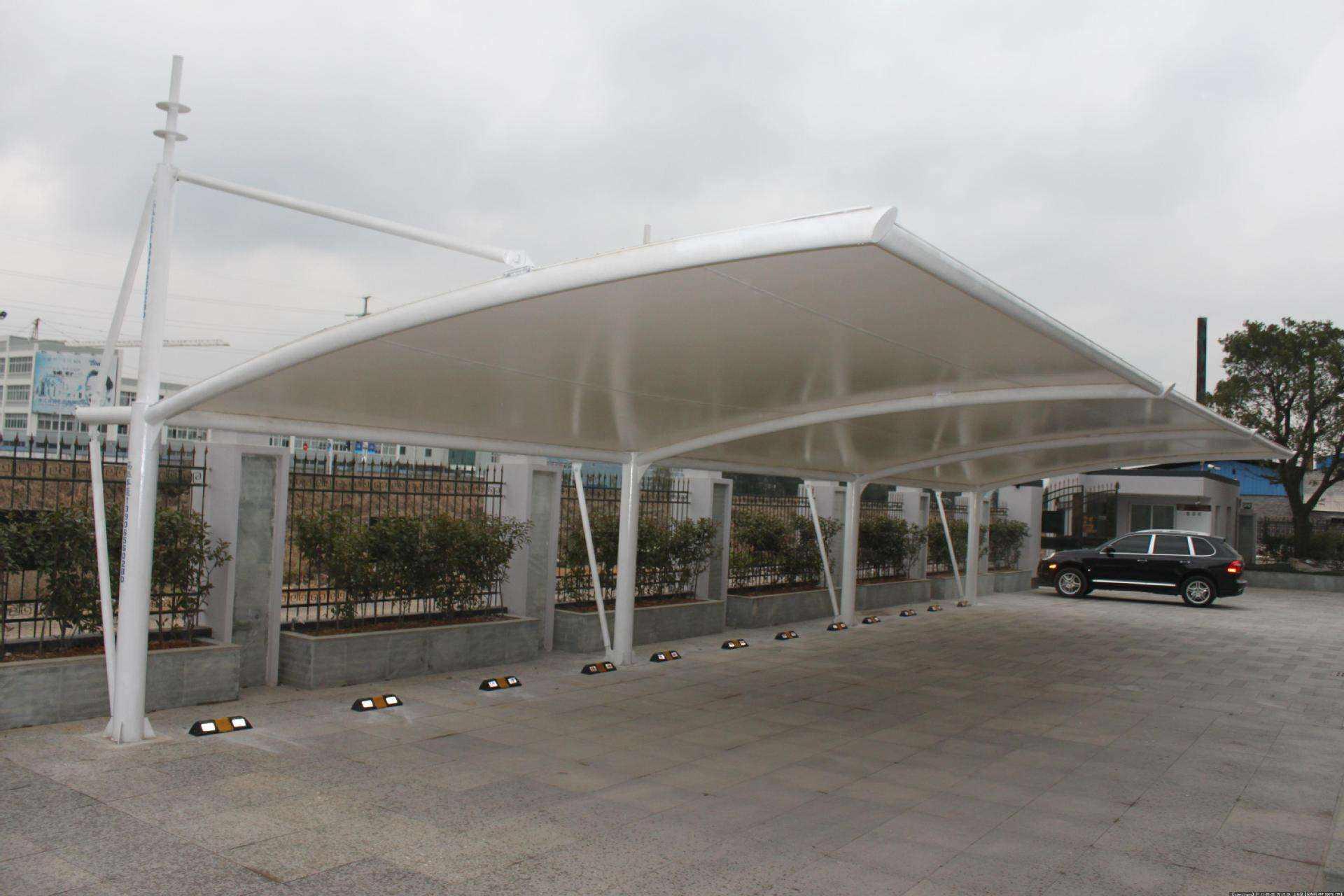 长沙膜结构停车棚工程安装事宜有哪些是需要知晓