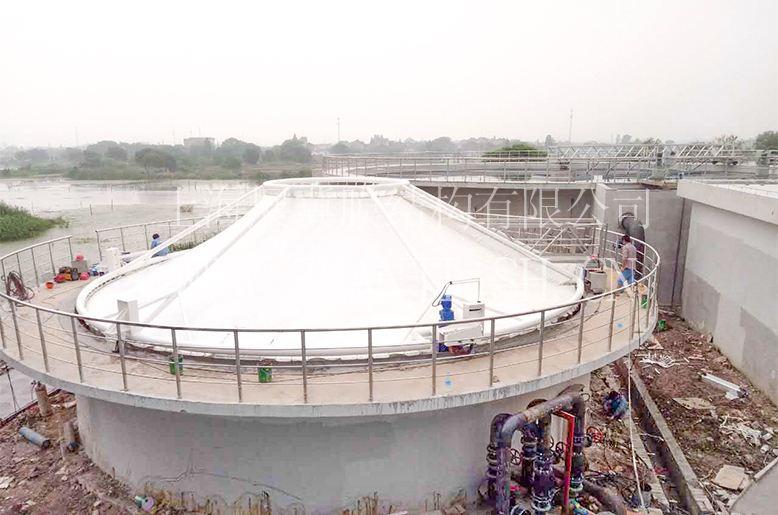 膜结构覆盖污水池