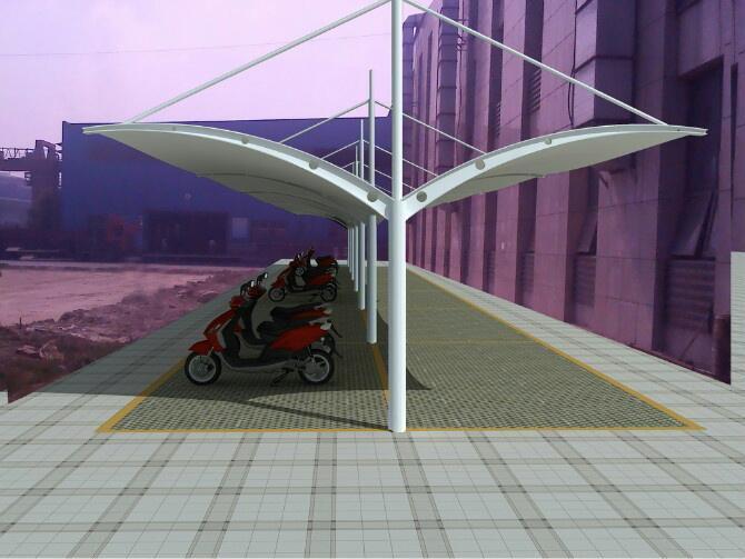 纳河/虎林膜结构汽车棚的制造应在化工厂进行