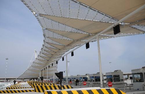 防城港膜结构收费站