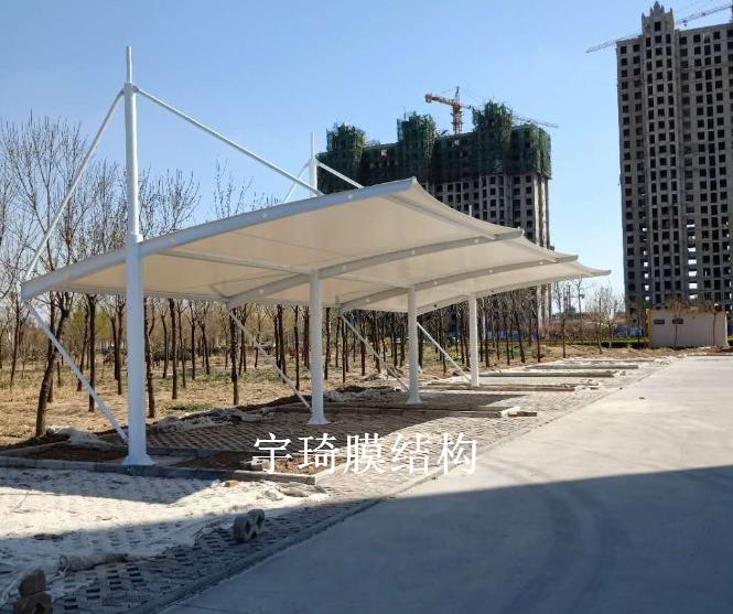 沧州海兴县税务局膜结构停车棚