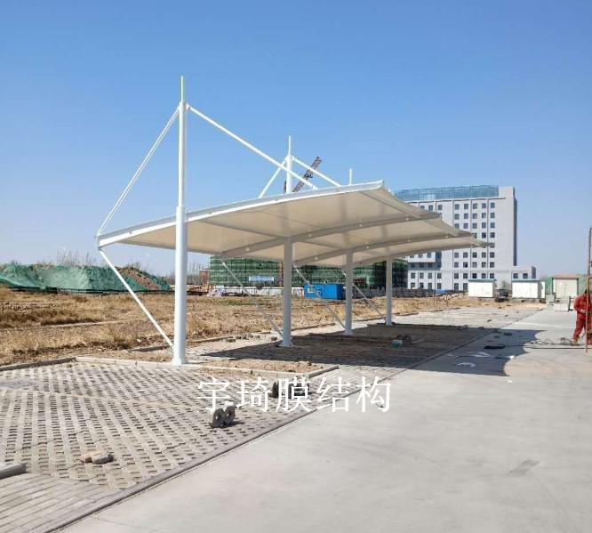 沧州海兴县税务局膜结构雨棚