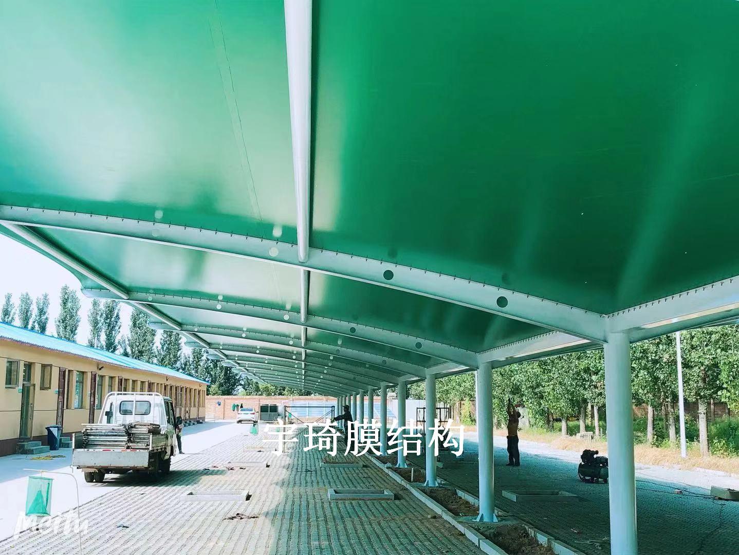 峪口禽业国企首农单位膜结构雨棚