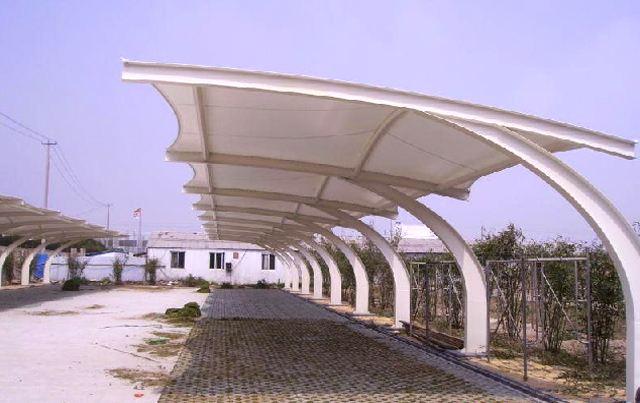 东莞7字型膜结构车棚
