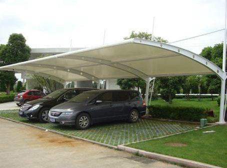 惠州7字型膜结构车棚