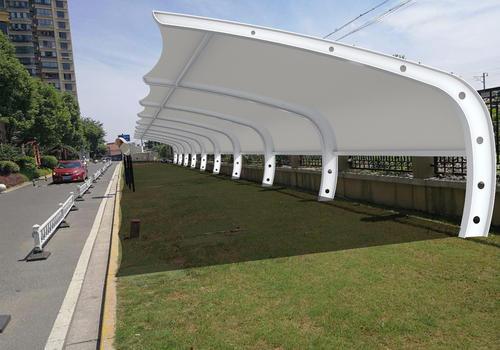 茂名7字型膜结构停车棚