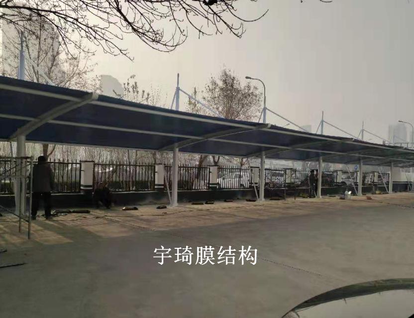 天津津港交警支队膜结构车棚