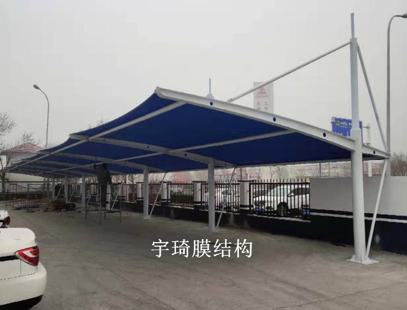 天津津港交警支队膜结构停车棚