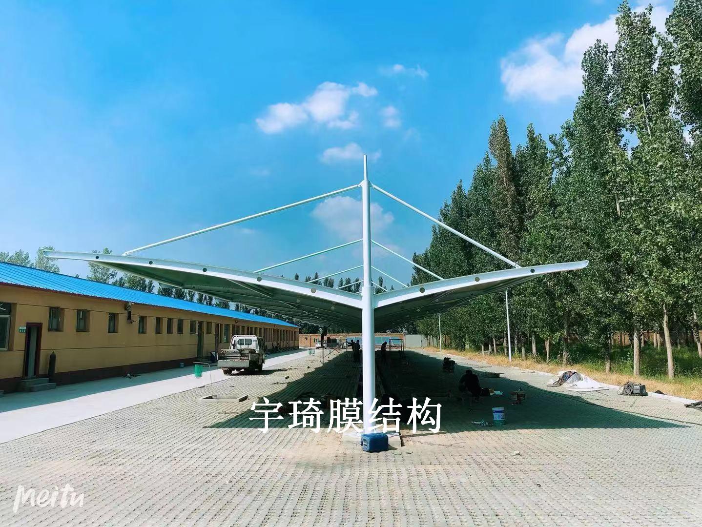 峪口禽业国企首农单位膜结构停车棚