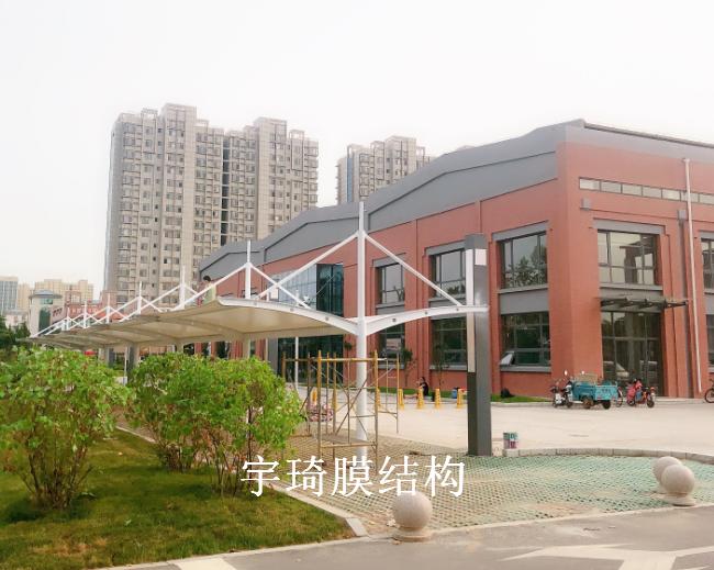 淄博高清博物馆膜结构车棚