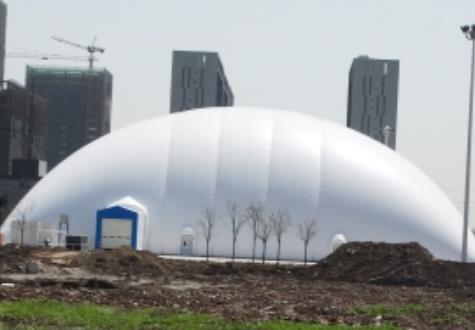 充氣膜結構煤棚工程是膜結構建筑一種典型的應用!
