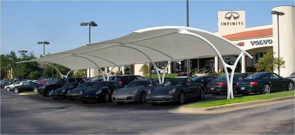 膜结构汽车停车棚怎么做好保养呢?