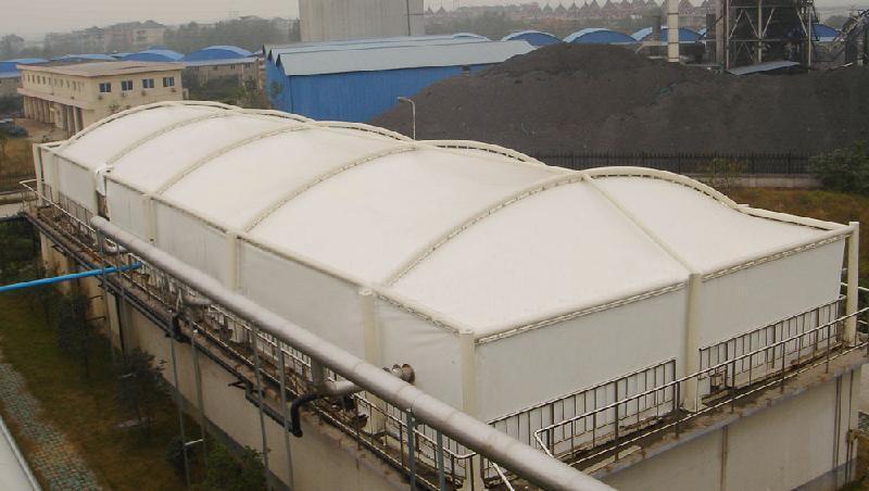 汙水池膜結構加蓋
