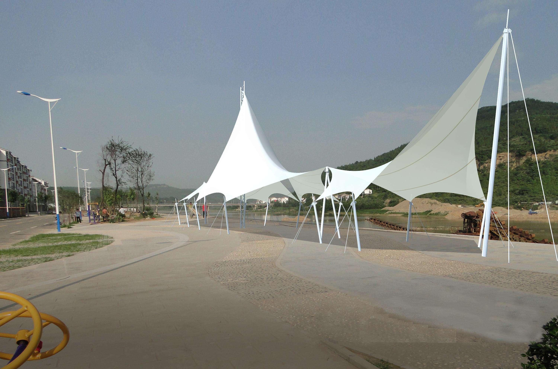 膜结构景观雨阳伞