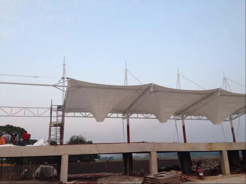 讲解一下膜结构看台工程钢结构部分焊接过程是怎样进行的?