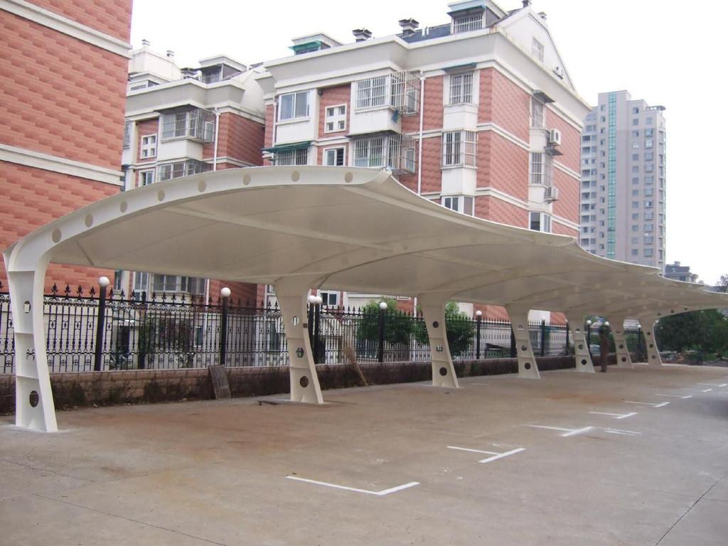 分享膜結構停車棚改造工程方案的小知識