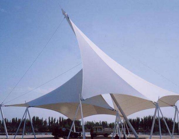 膜结构雨棚厂家的施工流程介绍