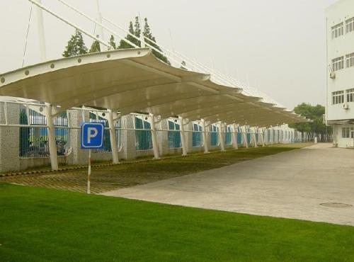 自行車膜結構停車棚